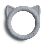 Mushie Bijtring Teether Cat  │  Stone_