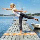 Sissel Yoga Mat bloemenmotief oranje_
