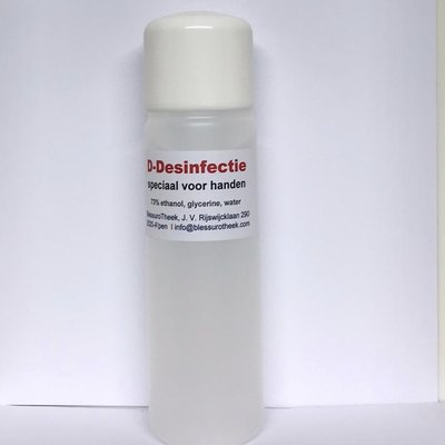 D-Desinfectie ontsmetting alcohol 73% - 250ml