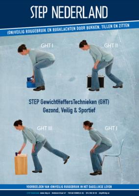 STEP Brochure: voorbeelden (on)veilig ruggebruik bij rugklachten door bukken, tillen en zitten