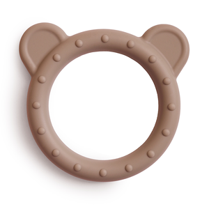 Mushie Bijtring Teether Bear  │  Natural