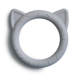 Mushie Bijtring Teether Cat  │  Stone