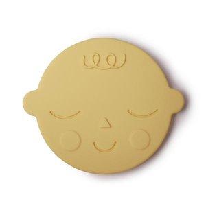Mushie Bijtring Teether Face  │ Banana Cream