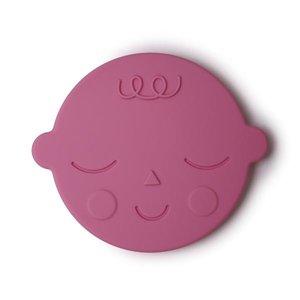 Mushie Bijtring Teether Face  │ Bubblegum