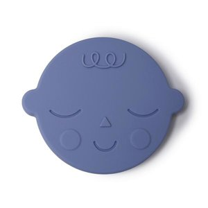 Mushie Bijtring Teether Face  │ Blueberry