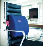 Rugkussen kantoor: oude blauwe kleur met harde en zachte uitvoering